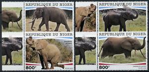 Niger Wild Animals Stamps 2020 MNH Elephants African Elephant Fauna 4v Set