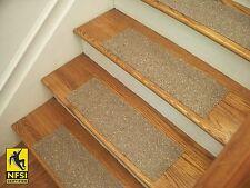 "NFSI High Traction - Vinyl Stair Tread Sets - Medium Brown (509) -  24"" x 8"""