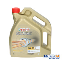 Castrol Aceite de Motor 5W-30 Edge Titanio Ll (5L) (15669E) Aceite de Motor