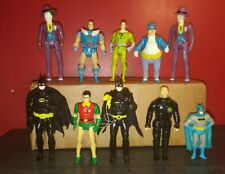 10-Piece Lot Vintage DC Comics Batman Action Figures 1989 Toy Biz