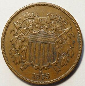 ETATS-UNIS : JOLI 2 CENTS 1865, PLAIN 5