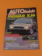AUTO HEBDO OCTOBER 1986 JAGUAR XJ6 LAMBORGHINI FORMULE 1 FRENCH MAGAZINE BMW