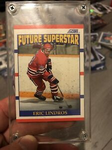 1990 Score Eric Lindros Rookie Card! 🔥MINT! 🔥 CENTERED!!! 🔥W@W! In Hard Case!