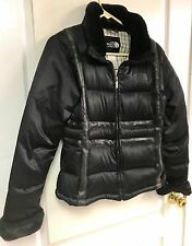 The North Face Womens sz M Black Puffer Jacket 550 Goose Down Quilted Warm Coat