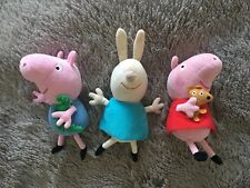 Peppa Pig Grorge Rebecca Rabbit Toy Bundle