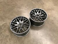 "CSL Style Alloy Wheels 19x8.5"" Pair for BMW / Holden Gunmetal Finish"