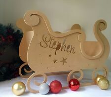 Christmas Sleigh custom Sled decoration freestanding wooden letters UNPAINTED