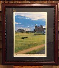 Vintage St. Andrews Lithograph Collection Plate Number 6 Golf Print Framed