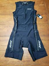 Zoot Mens Large Tri Suit Sleeveless Black Yellow Triathlon Swim Cycling Run L