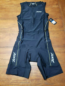 ZOOT Mens Medium Tri Suit Sleeveless Black Yellow Triathlon Swim Cycling Run M