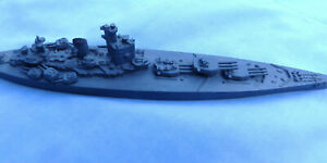 HMS NELSON WW2 BRITISH BATTLESHIP DIECAST MODEL OR RECOGNITION MINIATURE 7 INCH
