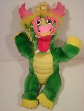 Vintage Haw Par Villa Dragon World Singapore Plush Stuffed Green Chinese Dragon