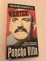 WANTED, PANCHO VILLA, TELLY SALVALAS, CHUCK CONNORS, VHS 1985 GOOD TIMES