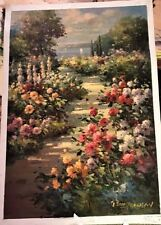 Freeman, Brad-Garden Upr-Botanical-Flowers-Art For Sale