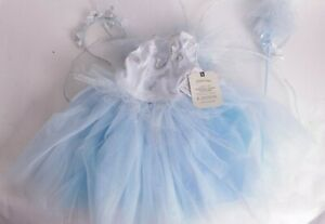 NWT Pottery Barn Kids Light Up Blue Butterfly Magical Fairy Halloween costume 3T
