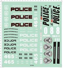 Self Adhesive Sticker POLICE for 1/10 1/12 model kits 62468