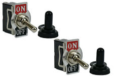 2 pc TEMCo 20A 125V ON-OFF SPST 2 Terminal Toggle Switch With Waterproof Boot