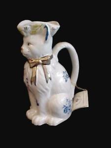 ROYALE STRATFORD RUSHTON STAFFORDSHIRE HANDMADE HANDPAINTED TOBY CAT PITCHER COA