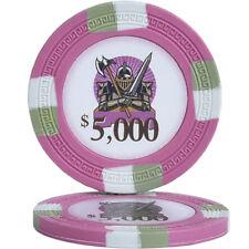 50pcs Knights Casino Poker Chips $5000