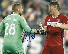 MATT LAMPSON signed *CHICAGO FIRE* autographed SOCCER 8X10 photo W/COA #1