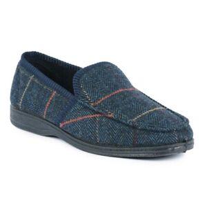 Men's Goodyear Eisenhower Check Tweed Styled Slipper. Sizes 6-12