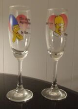 The Simpsons Champagne Glass Set of 2 - Fox TV Cartoon Collectible