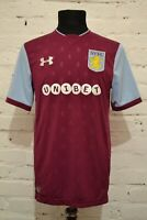 ASTON VILLA HOME FOOTBALL SHIRT 2017/2018 SOCCER JERSEY TRIKOT MENS M