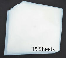 """12"""" Mylar Sheets 7.5Mil White for Airbrush Stencil Cutting, Quilting,Cricut 15Pk"""