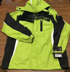 NWT Trespass Mens XL Hooded Rain Jacket Waterproof Breathable Windproof