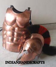 GREEK CORINTHIAN HELMET W/ROMAM MUSCLE ARMOUR KNIGHT SPARTAN HALLOWEEN COSTUME