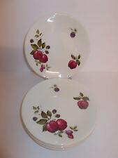 6 x Vintage Ridgway Ironstone Bromsgrove Fruit Design Side Cake Plates Lovely