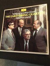 Mozart 4 LP Box Amadeus Early String Quartets DG Germany Tulip 2711 020 VG++