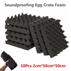 10 Sheets 2cm*50cm*50cm Car KTV Soundproofing Sound Absorption Acoustic Foam Pad