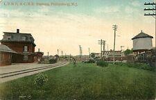 L.V.R.R. & C.R.R. Stations, Adjacent to Each Other, Phillipsburg NJ 1909