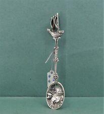 Vintage Dutch collectors Silver Spoon Galleon Finial A Landmeter 833 Lion Mark