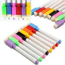 5X Black Whiteboard Marker Dry Erase Magnetic Pen With Eraser Easy Wipe Lid Cap