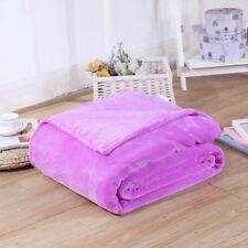150 200cm Violet Pourpre Peluche Couverture Polaire Sof de Luxe Chaud Sofa Lit