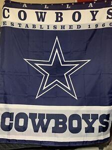 Dallas Texas Cowboys Star Design Shower Curtain/ Background Drop