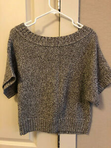 Charlotte Russe Brown & Tan Knit Sweater Shirt Top Large ADORABLE