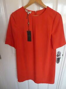 HOBBS RED DRESS - BRAND NEW( £129) - SIZE 10 - SUPER  LOOK!