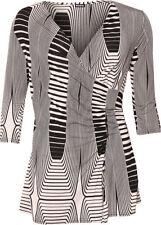 Maglie e camicie da donna maniche a 3/4 a fantasia righe taglia 42
