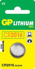 GP Lithium Cell Cr2016 3v Battery X 2 Pcs