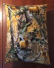 "Beautiful Handmade Fleece Deer Elk Bear Moose Accent - Throw Pillow 13"" x 10"""
