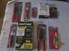 EIGHT ELECTRICAL WIRING TOOLS  SPERRY INSTRUMENTS, GARDNER BENDER, RAYOVAC,RCA