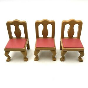 Little Tikes Grand Mansion Chairs 3 Set Dining Room Table Furniture Doll House