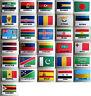 Bandera Del País Grande de Coser Bordado Tela Insignia Parche Appliqué ▪ 7.2cm X