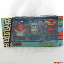 Futurama Tineez Bender Zoidberg and Robot Devil Figures by Toynami 1st release
