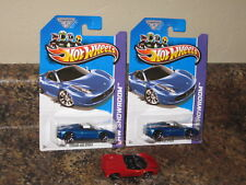 Hot Wheels 2012 Ferrari 458 Spider Convertible Lot of 3 Blue Red OH5S Coupe