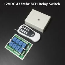 DC 12v 8CH Wireless RF Remote Control Relay Switch Module Transmitter + Receiver