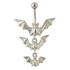 Piercing Da Ombelico Vampiro Pipistrello Argento Dangle Halloween in acciaio chirurgico ombelico Piercing